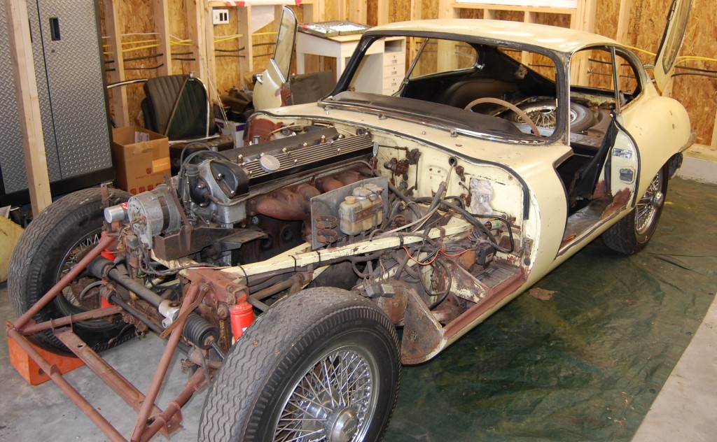 1969 E-Type FHC project for sale | Monocoque Metalworks