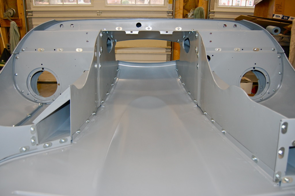 ...viewed from the underside, I can assure you that the monocoque body shell and bonnet assemblies that are included with these projects are WELL beyond anything that can be purchased ANYWHERE else - in originality, strength, AND the quality of fit and finish! And of course, WELL WORTH THE WAIT!!!